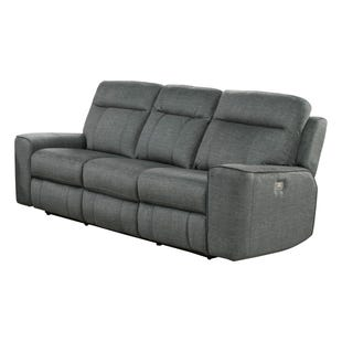 Parthenon Titanium Power Reclining Sofa and Headrest