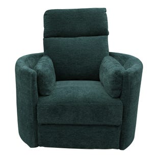 Swivel Glider Radius Recliner Peacock
