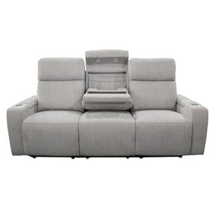 Orpheus Beige Dual Power Reclining Sofa