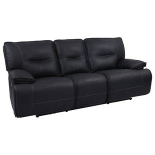 Spartacus Black Dual Power Reclining Sofa