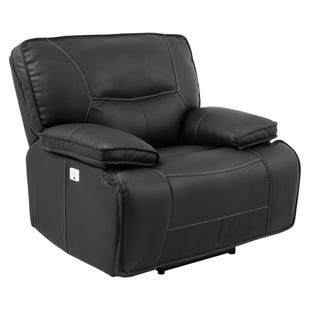 Spartacus Black Dual Power Recliner