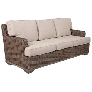 Brookstone Wicker Sofa