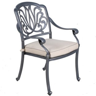 Geneva Cushioned Patio Arm Chair