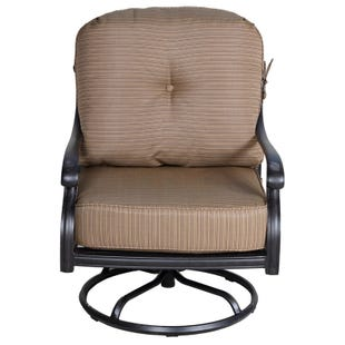 Castle Rock Cast Aluminum Swivel Club Chair with Cushion