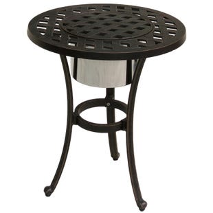 Castle Rock Cast Aluminum Ice Bucket End Table