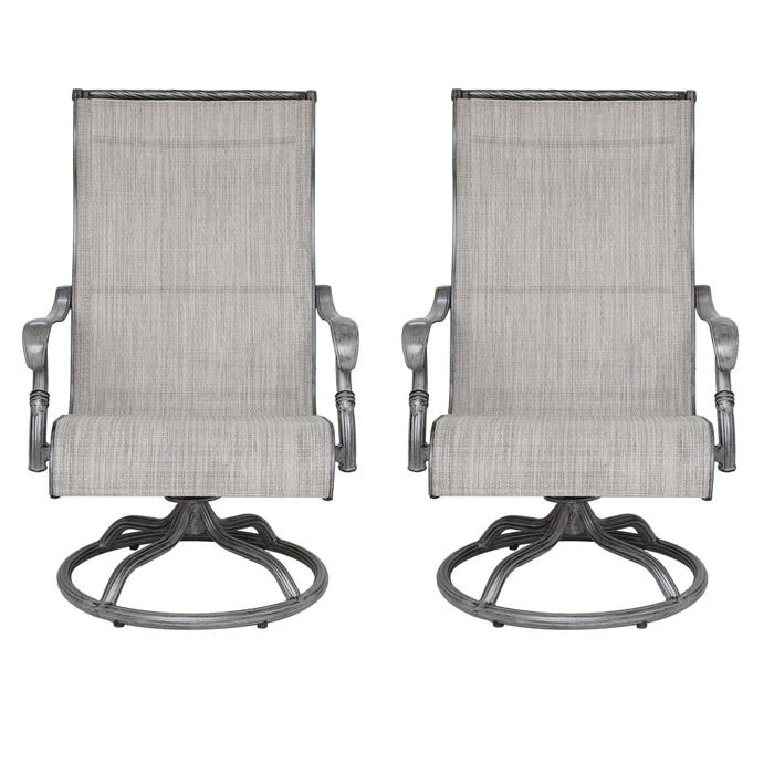 Set Of 2 Sling Dining Swivel Chairs