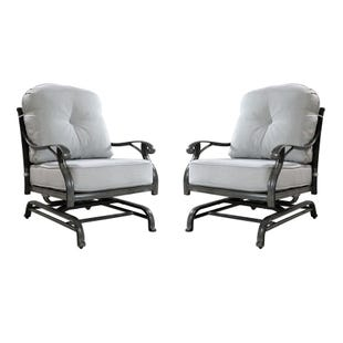 Macon Outdoor Set of 2 Motion Chairs with Cusions