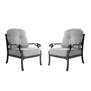 Macon Outdoor Set of 2 Club Chairs with Cushions