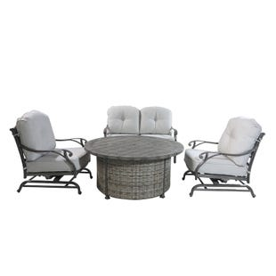 Macon Club Collection Fire Pit Patio Set
