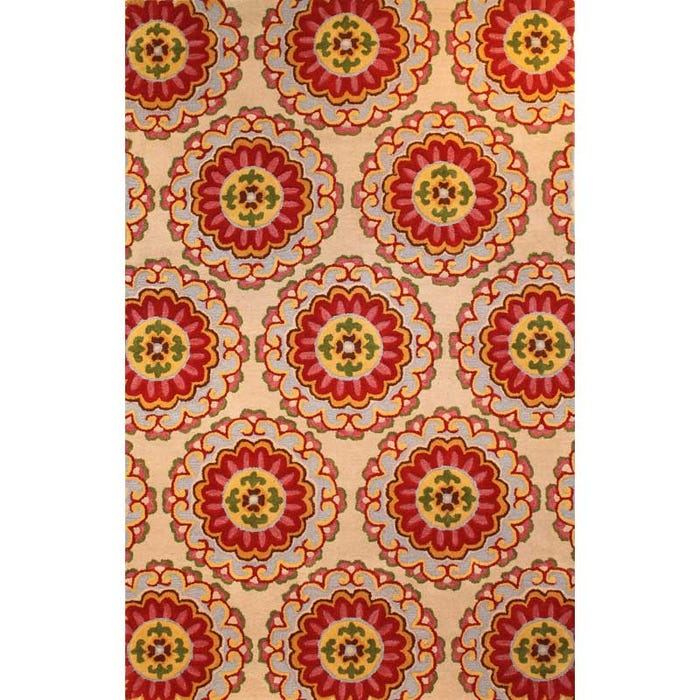 Trina Medallion Ivory 8x10 Wool Rug Weekends Only Furniture