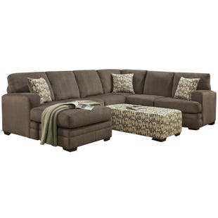 Hillel Gray Chenille Reversible Chaise Sectional