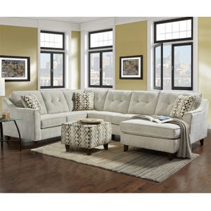 Sydney Cream Chenille 3 Piece Sectional