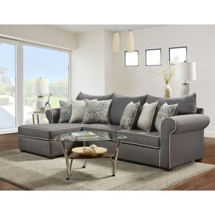 Aiden Gray Linen 2 Piece Sectional