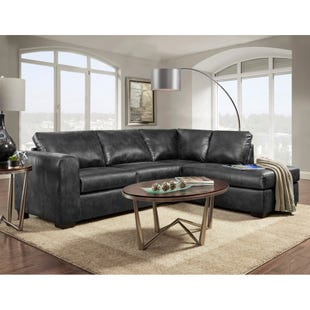 Paloma Black 2 Pc Sectional