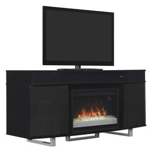 "Enterprise Black 64"" Fireplace TV Stand"