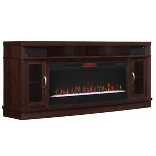 "Deerfield Antique Brown Cherry 70"" ET Fireplace"