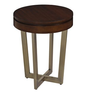 Modern Dweller Walnut/Brass Side Table