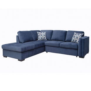 Sabrina Blue Left Facing Sleeper Sectional
