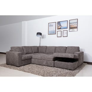 Claire Pewter Sleeper Sectional