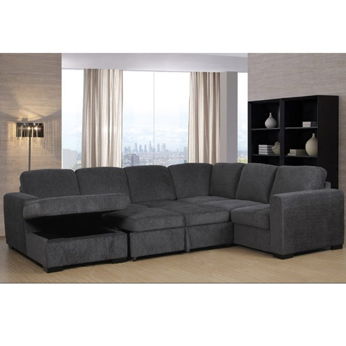 Outstanding Claire Full Sleeper Sectional With Storage Chaise Pabps2019 Chair Design Images Pabps2019Com