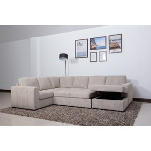 Claire 3 Pc Sand Right Side Facing Chaise Sleeper Sectional