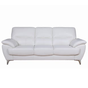 Galactica White Faux Leather Sofa