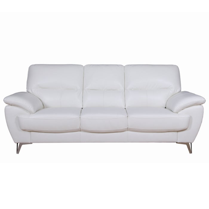 Galactica White Faux Leather Sofa Weekends Only Furniture