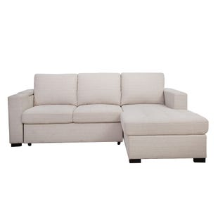 Luigi 2 Piece Cream Sleeper Sofa Chaise