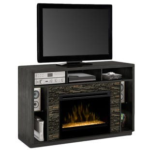 "Joseph Anthracite 67"" Fireplace TV Stand"