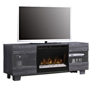 """Max 62"""" Carbon Fireplace TV Stand"""