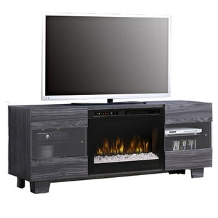 "Max 62"" Carbon Fireplace TV Stand"