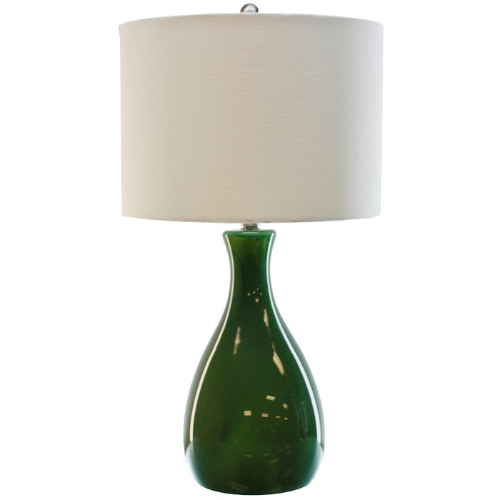 Tlc Leaf Green Glass Table Lamp Weekends Only Furniture