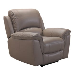 Rylan Greige Top Grain Leather Power Recliner