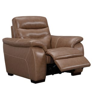 Brilliant View Point Socozi Brown Microfiber Power Recliner Weekends Pabps2019 Chair Design Images Pabps2019Com