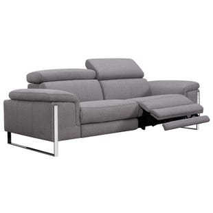 Sophie Gray Power Sofa and Headrest