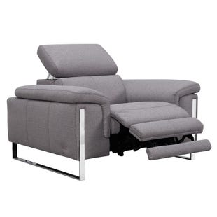 Sophie Gray Power Recliner and Headrest