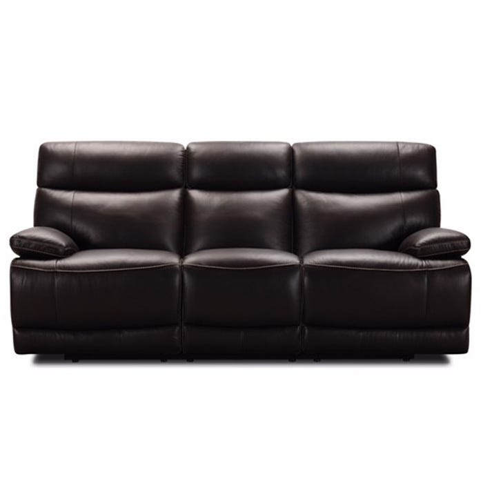 Phenomenal Louie Ranch Brown Top Grain Leather Power Reclining Sofa Bralicious Painted Fabric Chair Ideas Braliciousco