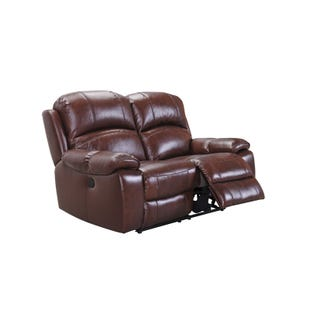 Asher Power Leather Reclining Loveseat