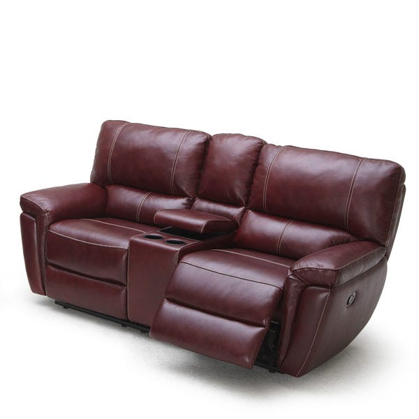 Astounding Palo Leather Reclining Loveseat Console Caraccident5 Cool Chair Designs And Ideas Caraccident5Info