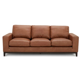 Cooper Brown Top Grain Leather Sofa