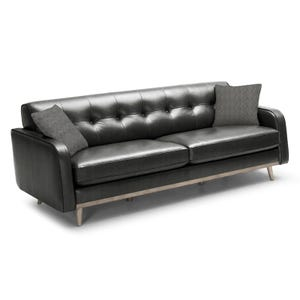 Brooklyn Charcoal Top Grain Leather Sofa