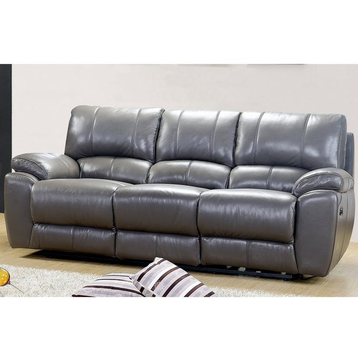 Adriana Leather Reclining Sofa | Weekends Only Furniture