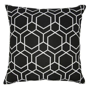 Black & White Geometric Indoor/Outdoor Pillow