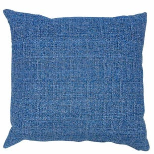 Bright Blue Linen Indoor/Outdoor Pillow