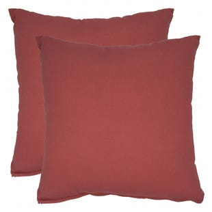 Solid Red Indoor/Outdoor Pillow