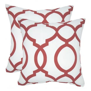 Red Quatrefoil Indoor/Outdoor Pillow