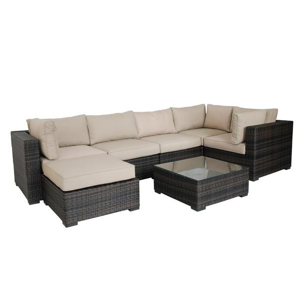London 7 Piece All Weather Wicker Patio