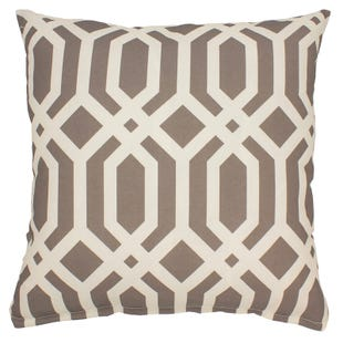 Geometric Tan Indoor/Outdoor Pillow