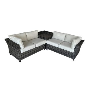 Livorno Wicker Beige Outdoor Sectional