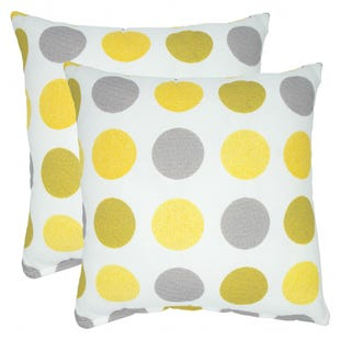Yellow Polka Dot Indoor/Outdoor Pillow
